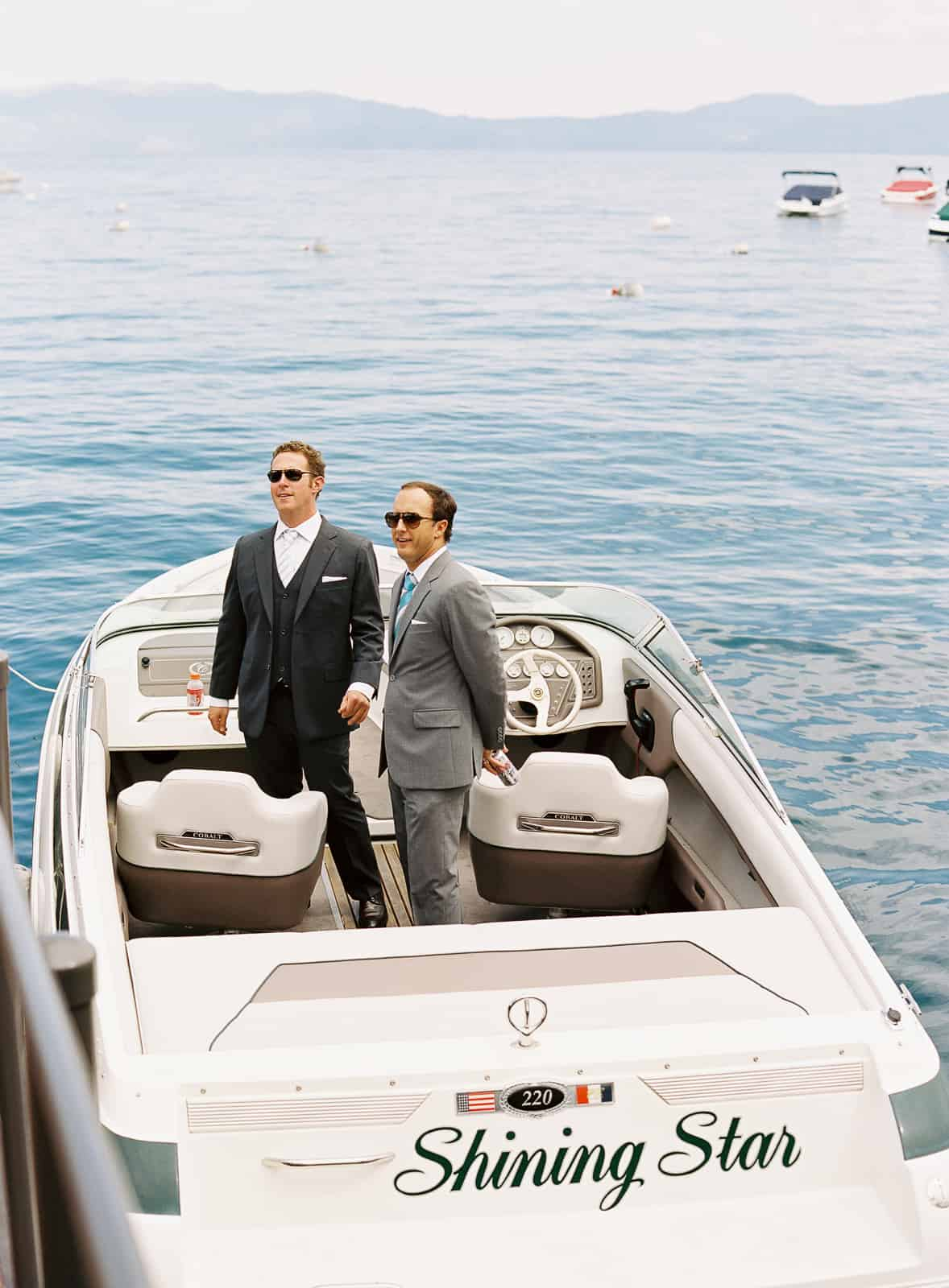 Speed boat to ceremony