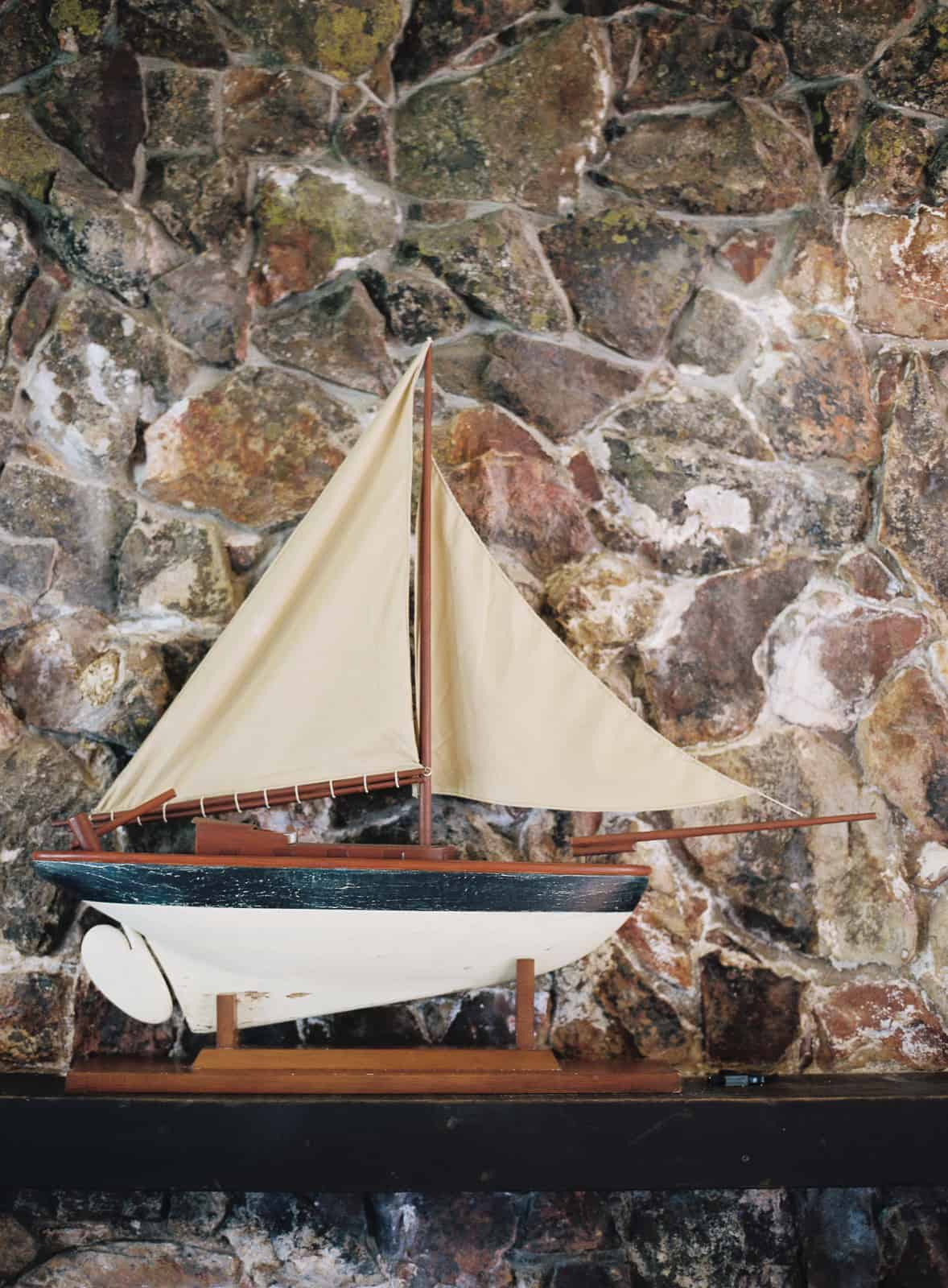 Wood model sail boat