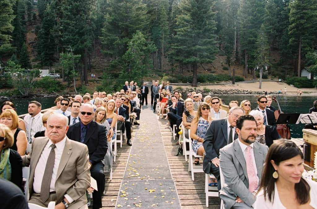 Seated guests during the ceremony