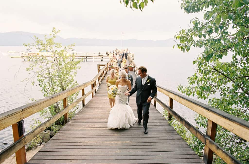Leaving the ceremony