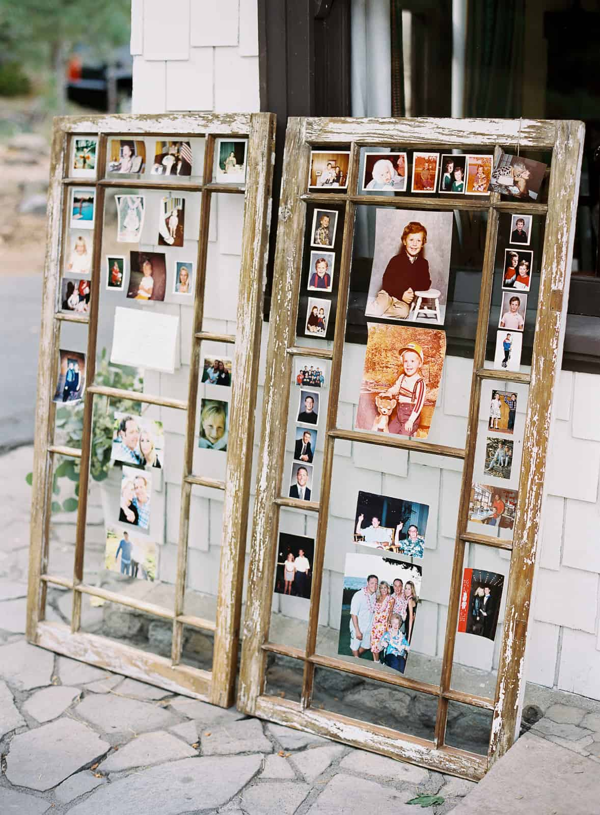 Old window picture frames