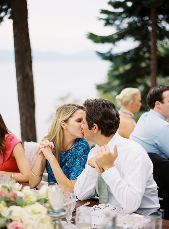 Guests kissing