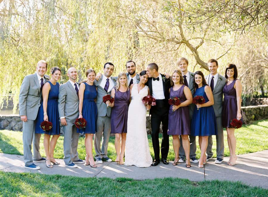 Group photo of the wedding party