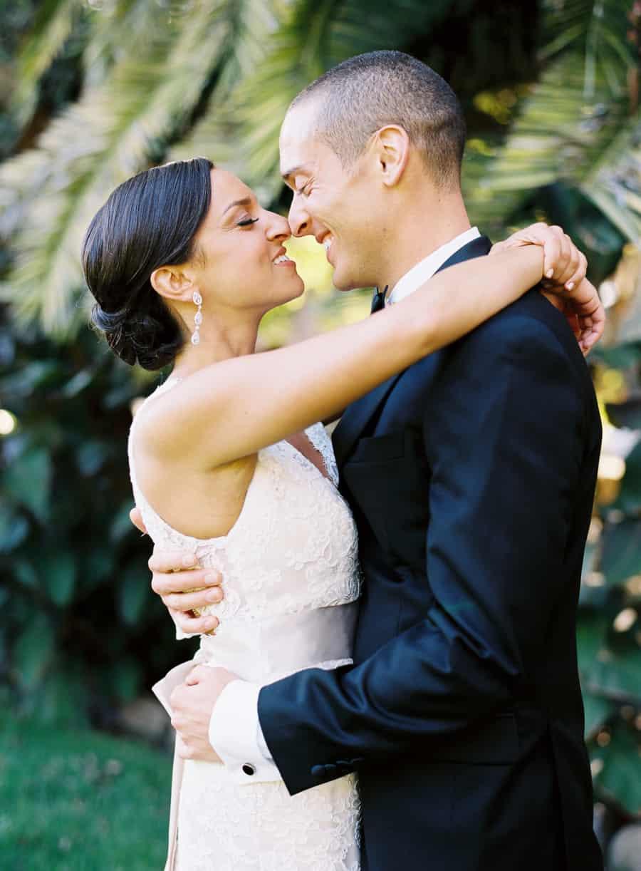 Wedding eskimo kiss