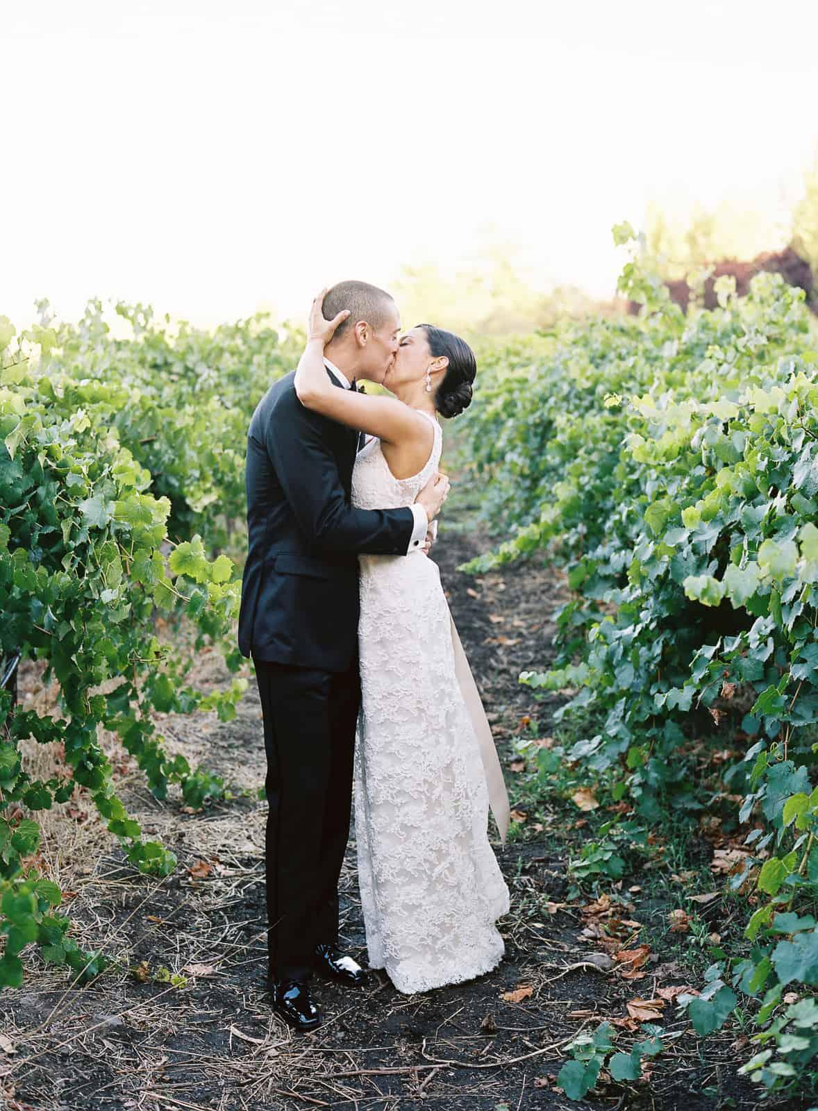 Somoma vineyard kiss