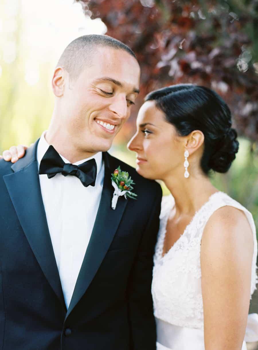 Casual wedding portrait