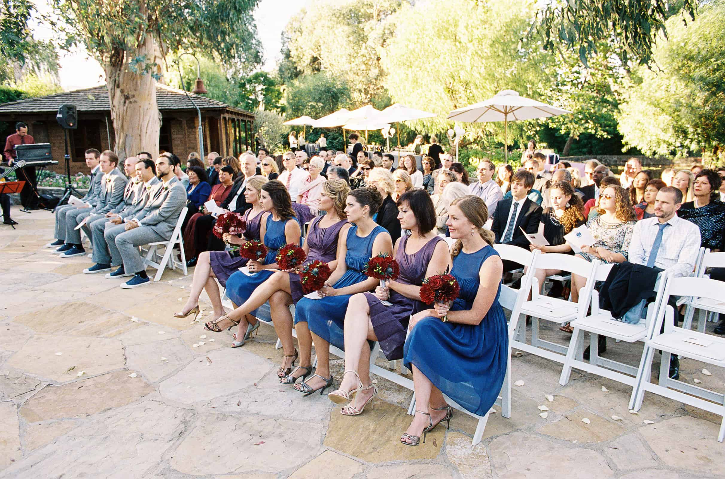 Seated wedding guests