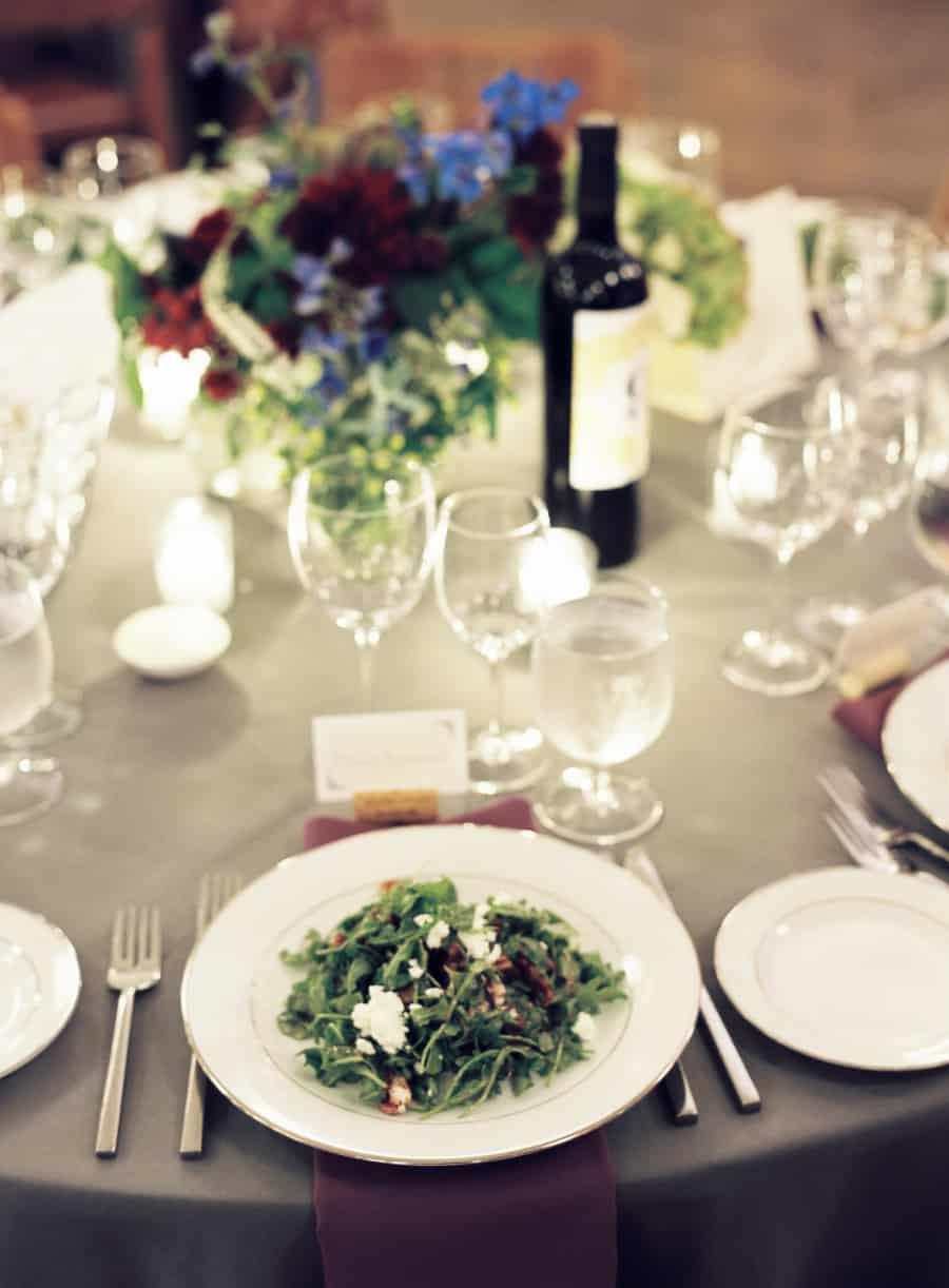 Salad and table setting