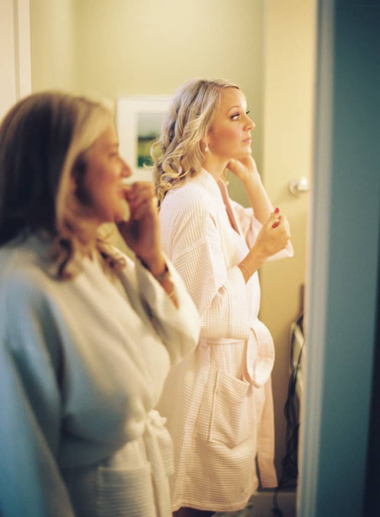 Mother and daughter getting ready