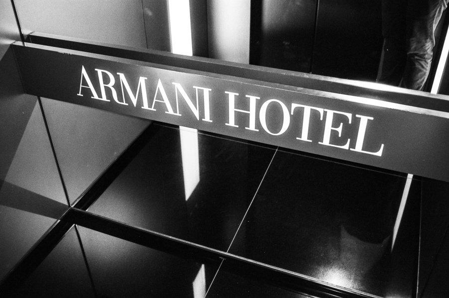Armani Hotel sign