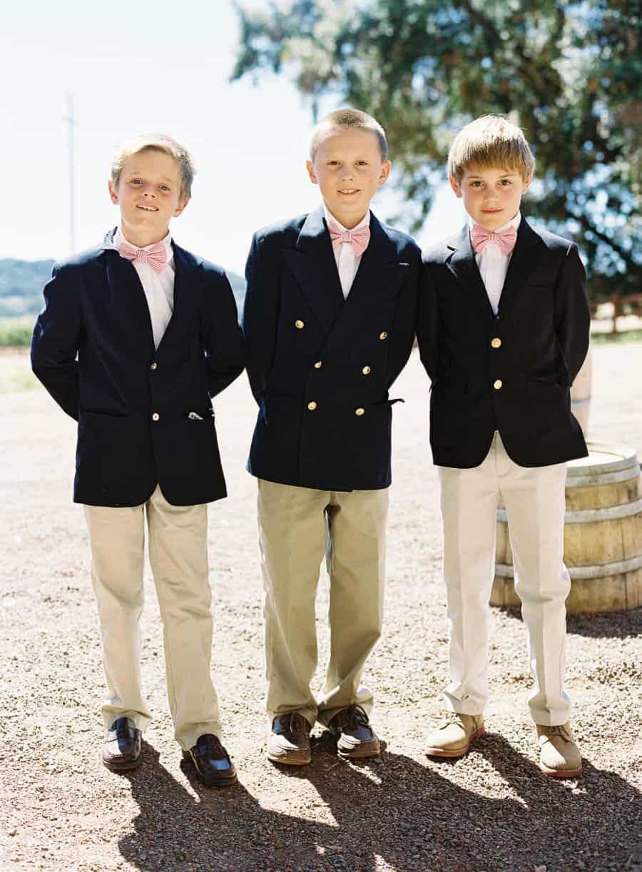 junior ushers pink bow ties