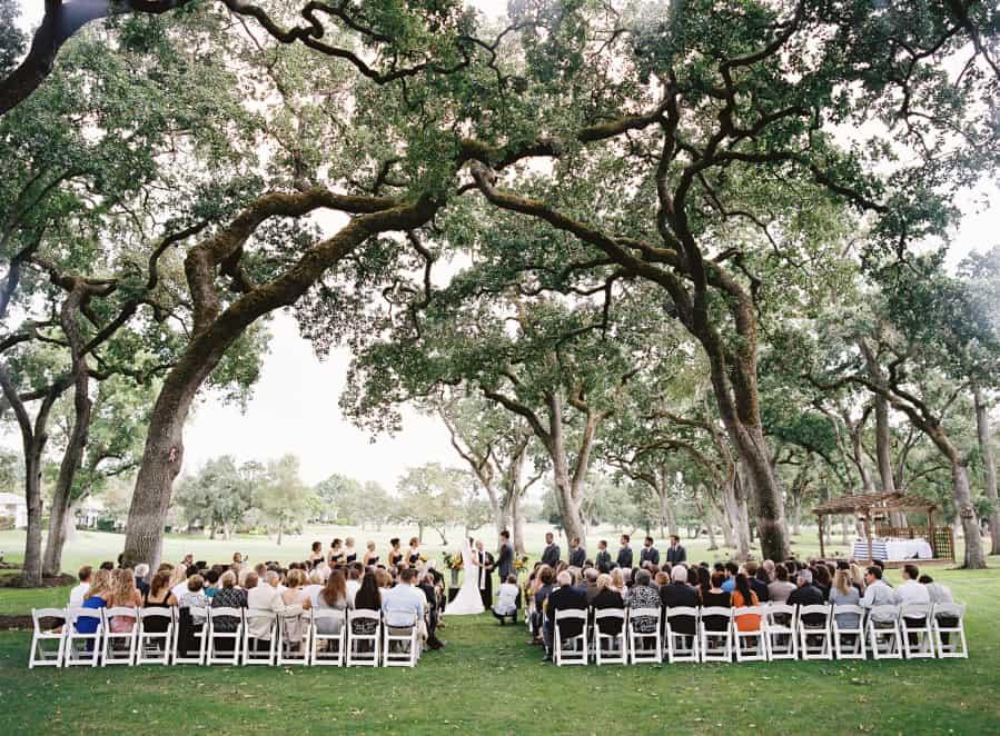 silverado napa wedding venue ceremony