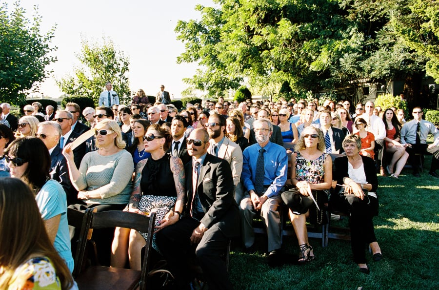 Guests at the ceremony