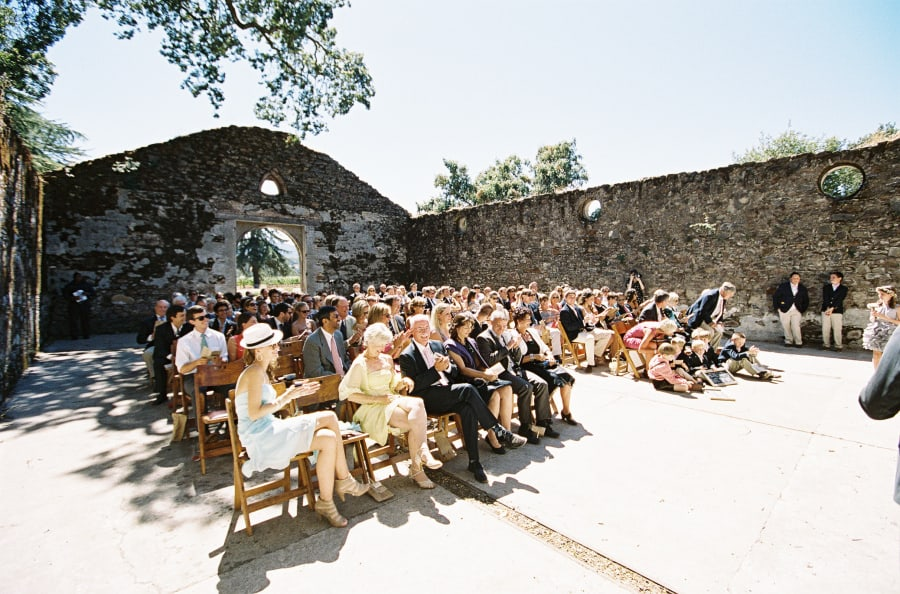 guests watching ceremony