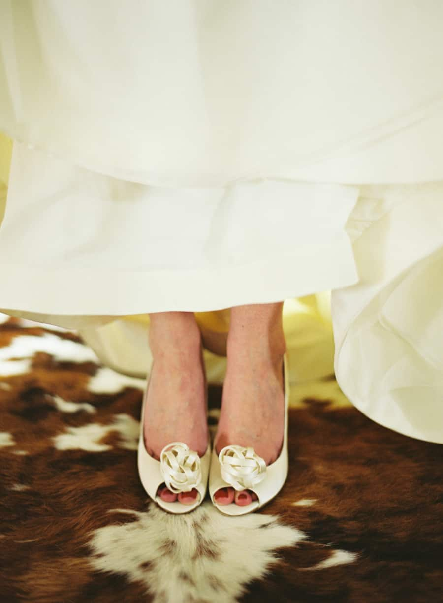 Kate Spade shoes on a cow skin rug