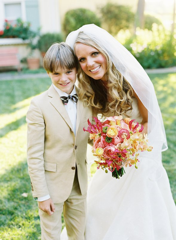 Bride and bow tie ring bearer