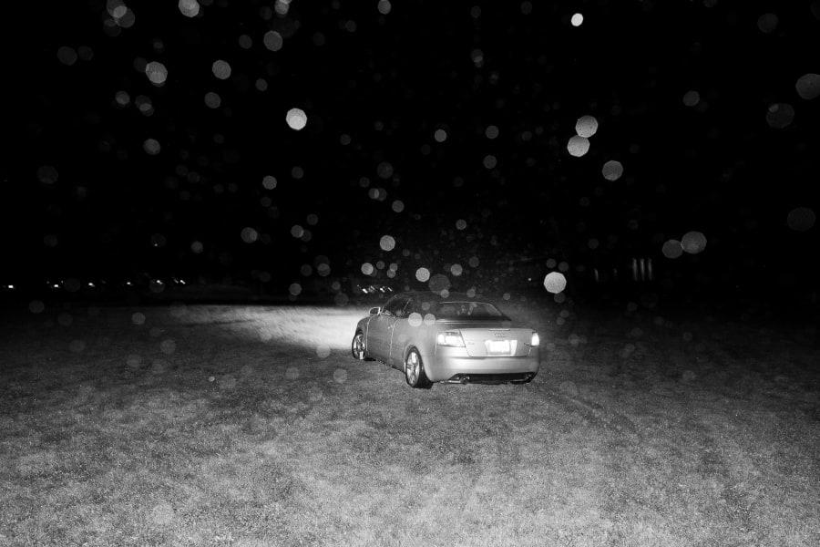 car departing