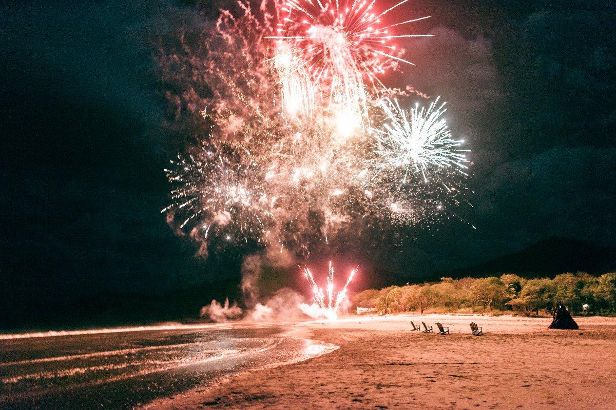 beach fireworks