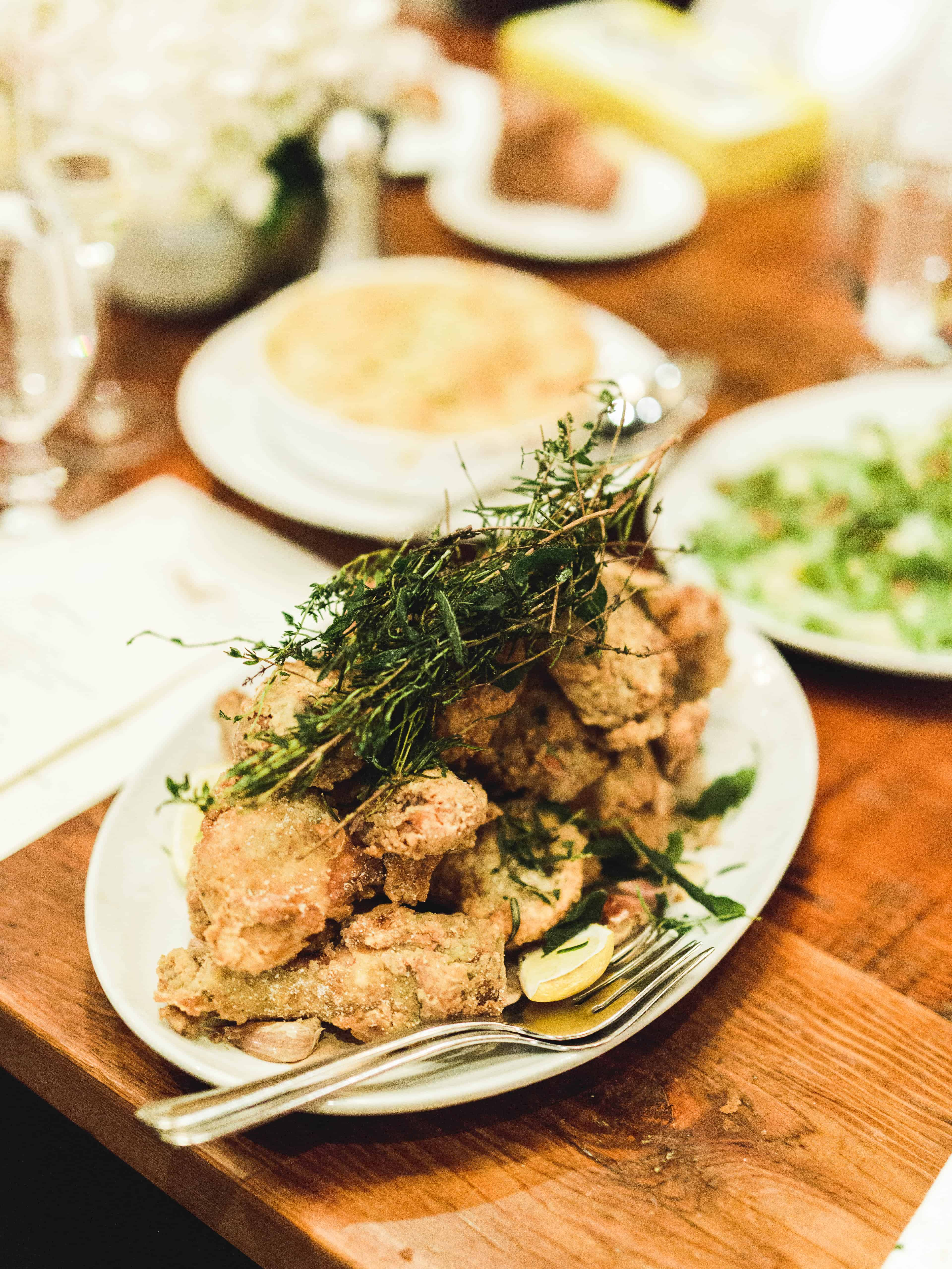 fried chicken with sage