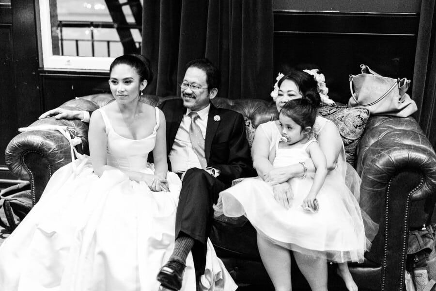 bride's parents and niece