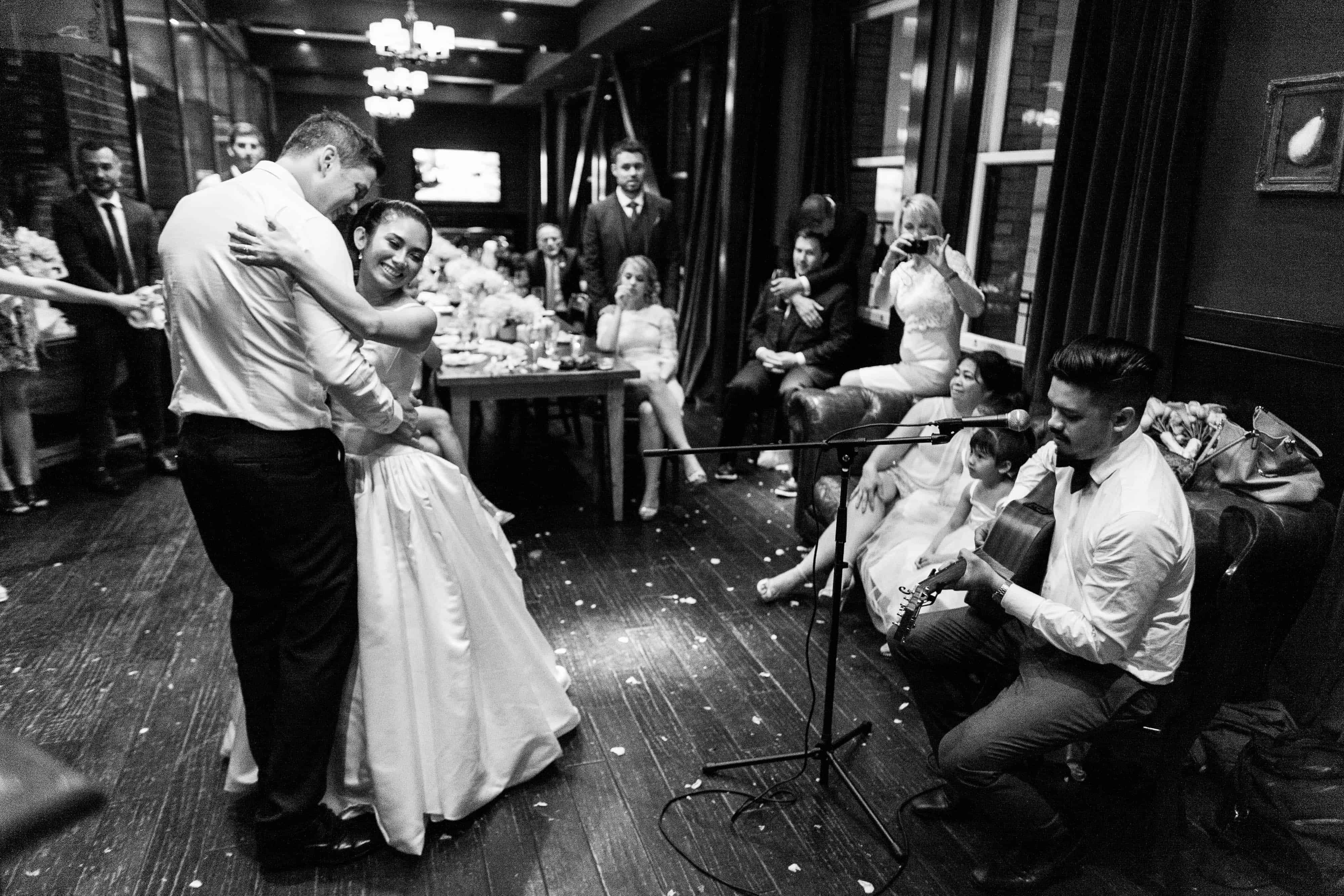 first dance with guitar player