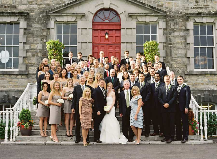 Group photo of the entire wedding