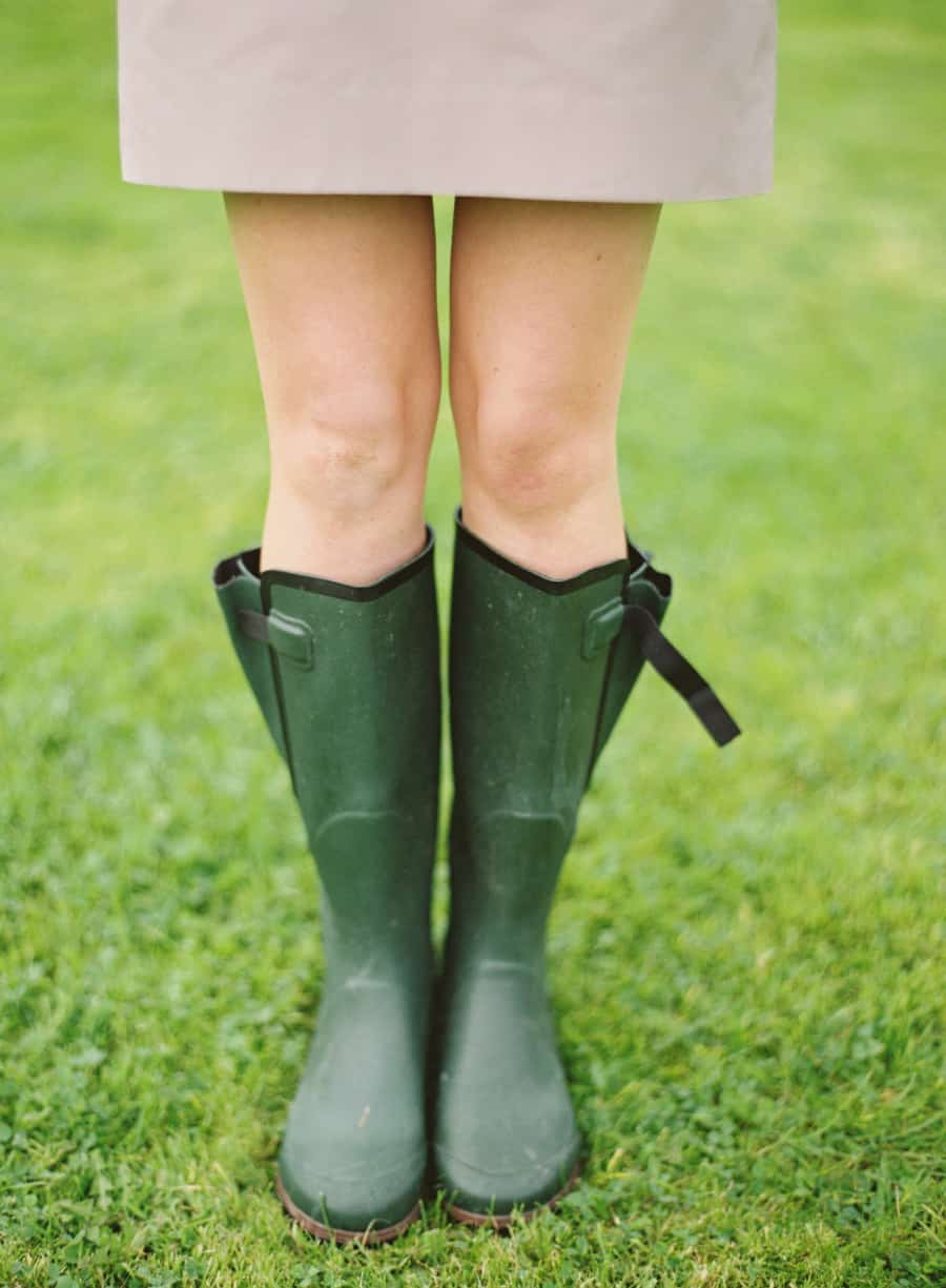 Bridesmaid in wellies