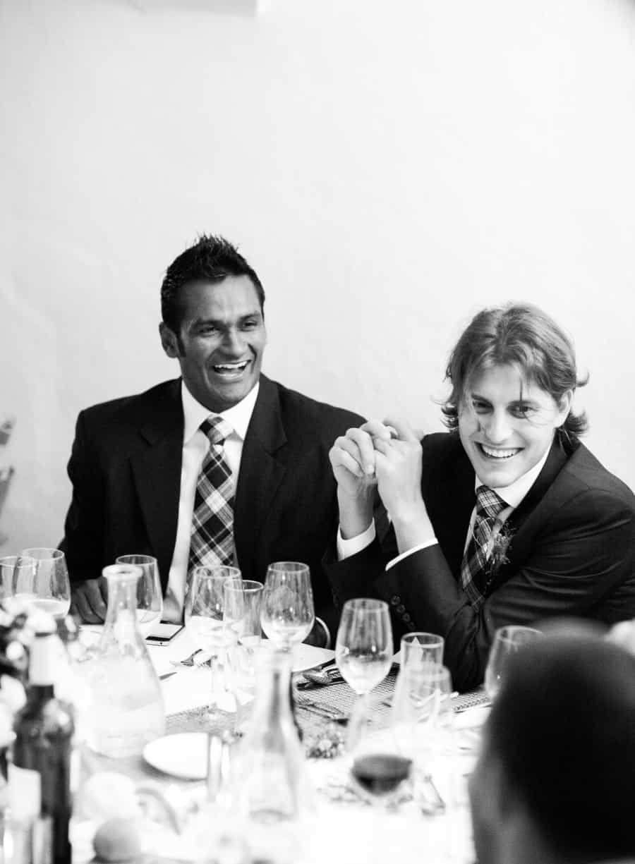 Groomsmen dining