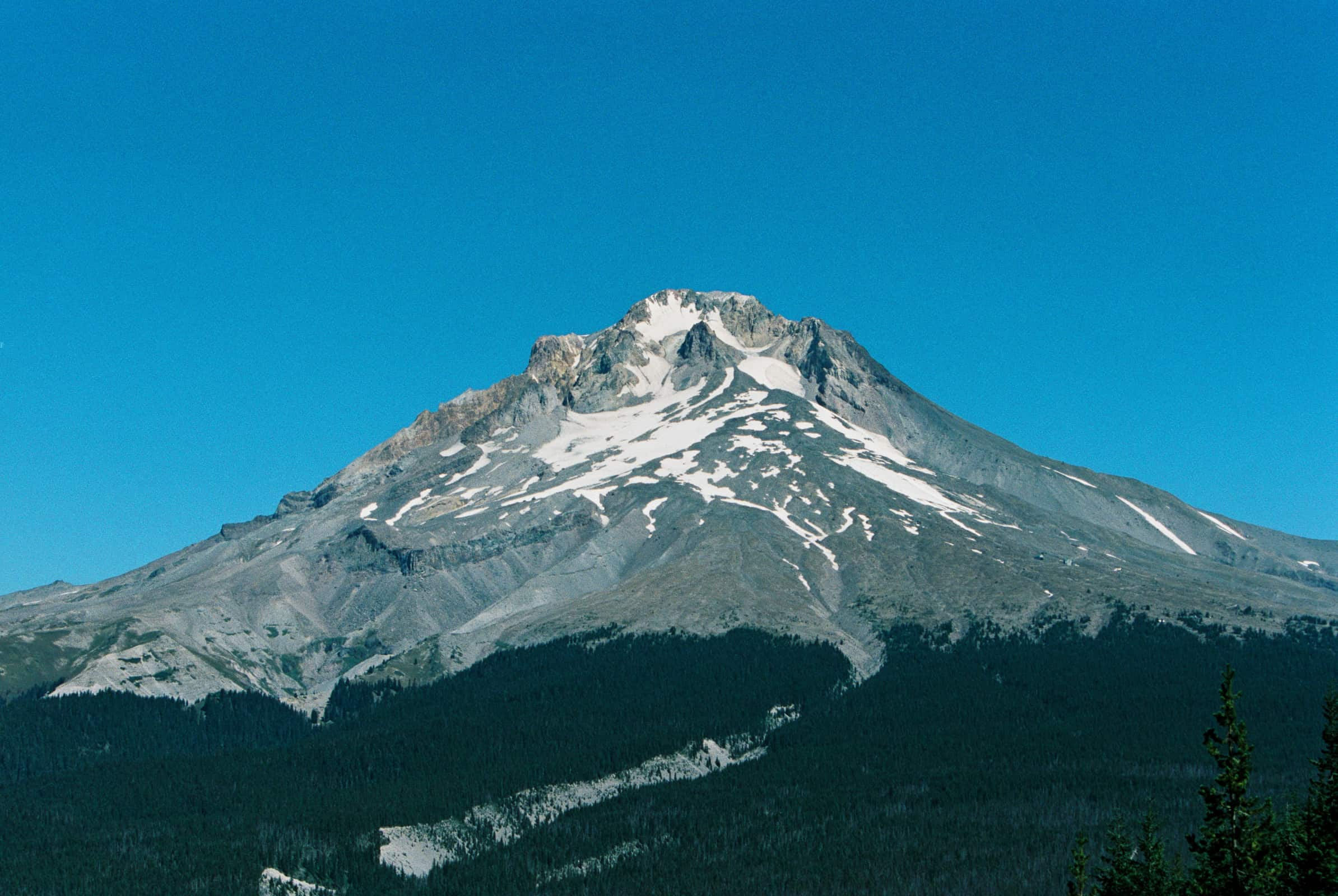 view of mt hood with blue sky