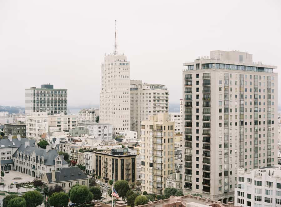 san francisco view from mark hopkins hotel