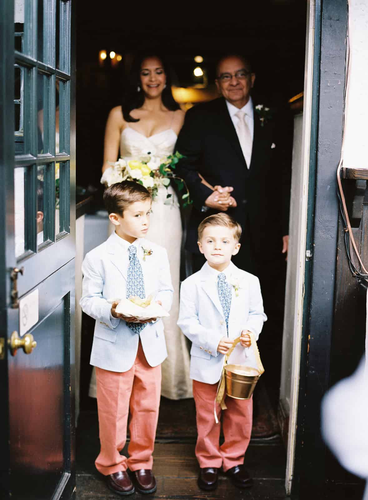 ring bearers in searsucker