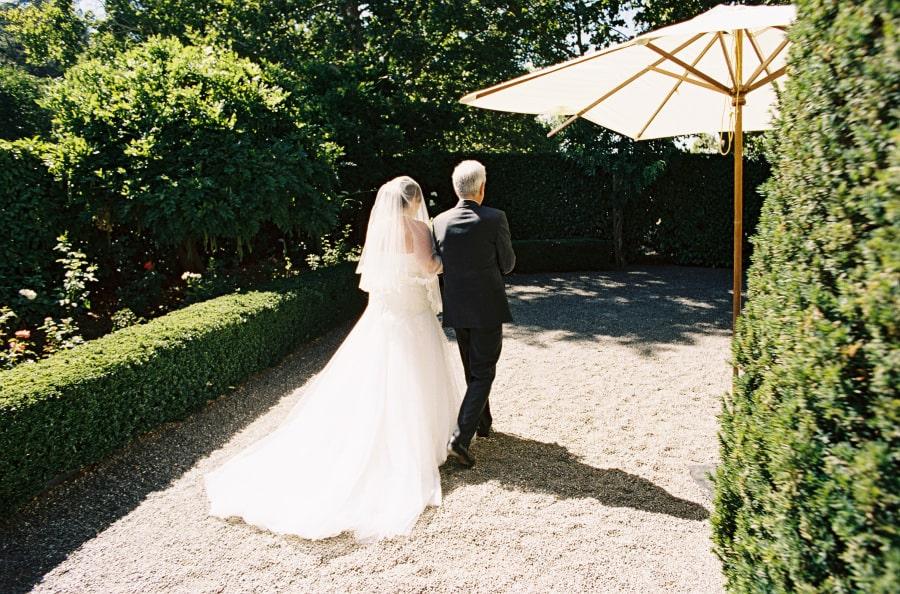 father walking bride