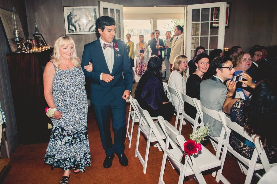 groom and mother entrance