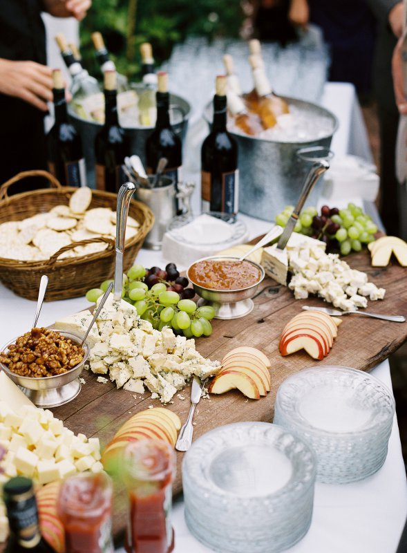 cheese fruit and wine
