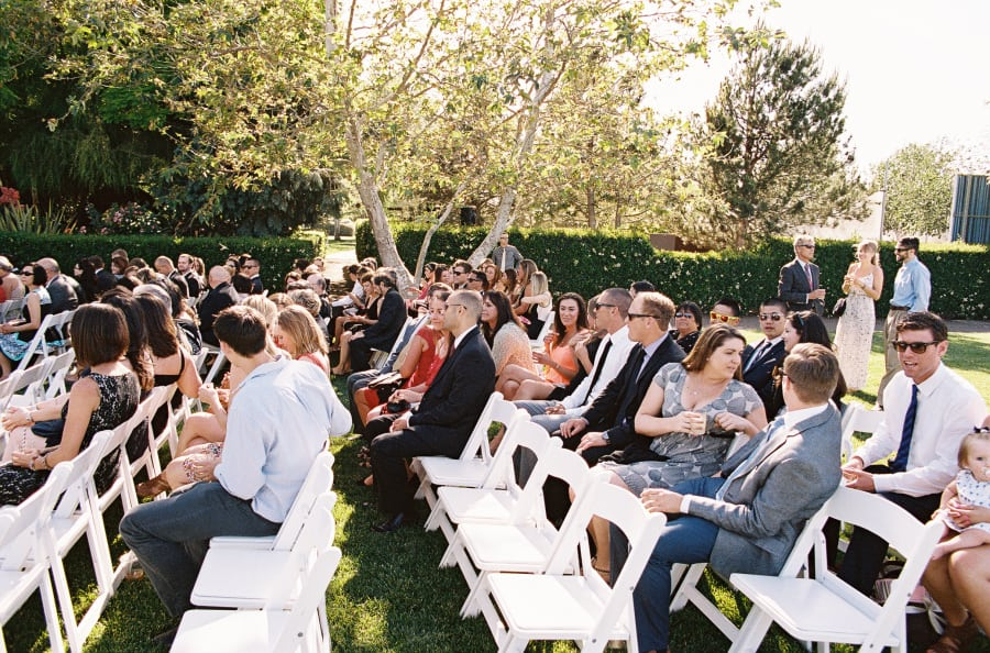 ceremony guests seated