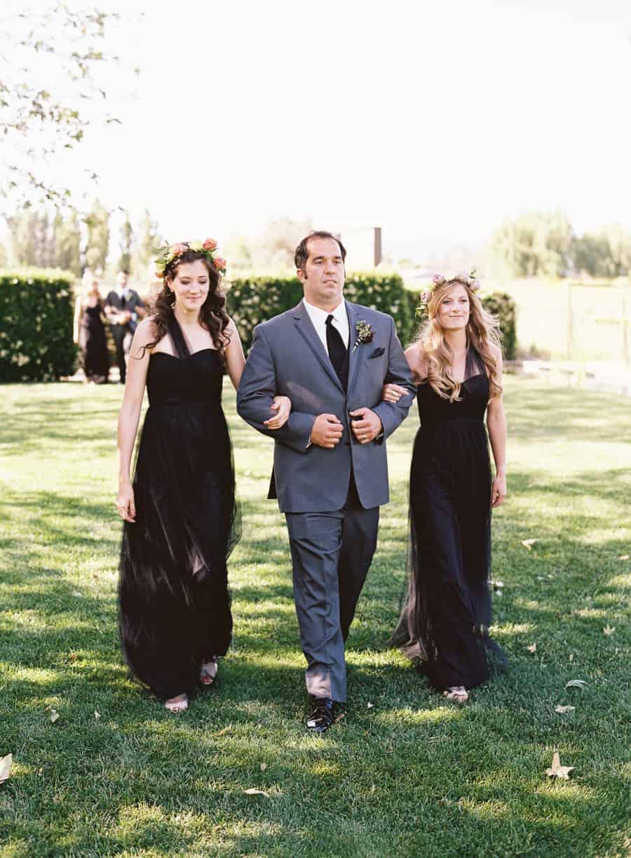 ceremony entrance bridesmaids and groomsmen