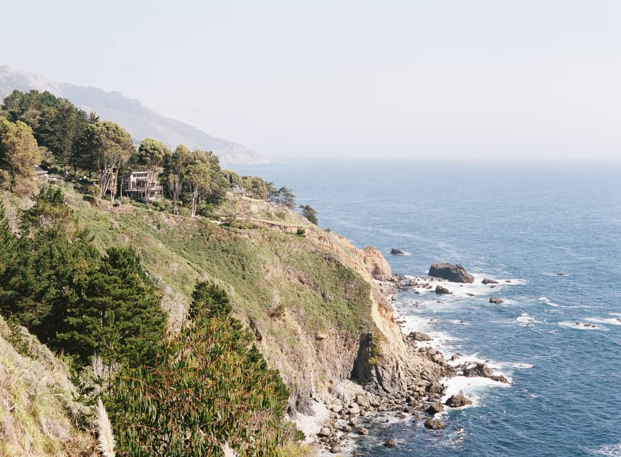 view of big sur and the pacific ocean from paion estate