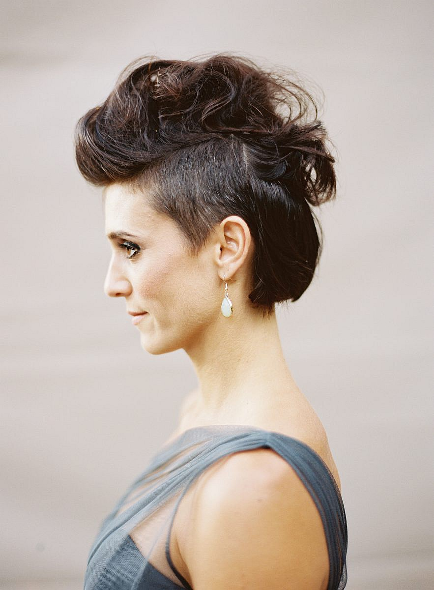 bridesmaid with mohawk