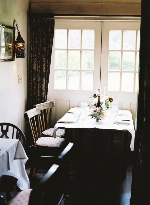 rustic dinner table setting english inn
