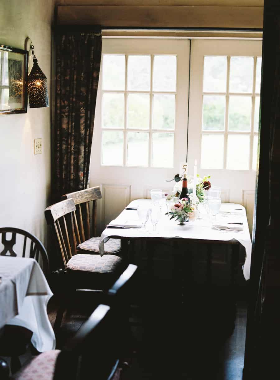 rustic dinner table setting english inn