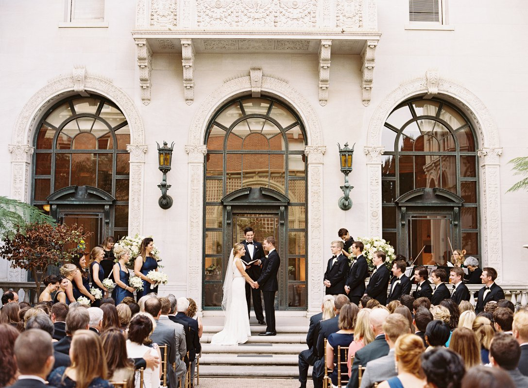 ceremony on the steps
