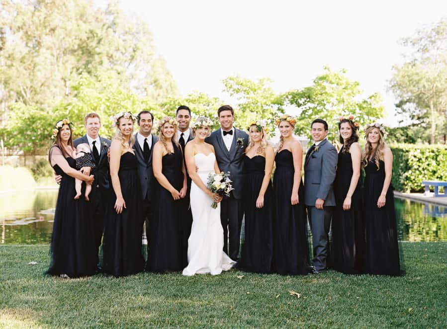 wedding party formal photo