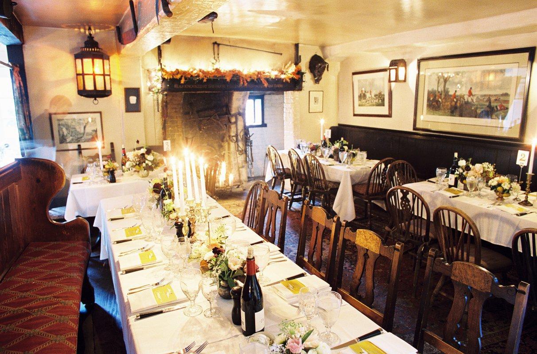 rustic antique wedding dinner