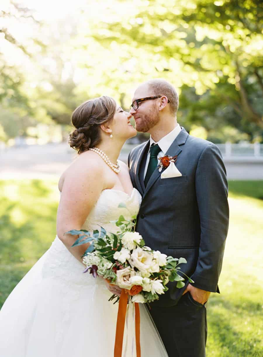 couples portrait eskimo kiss