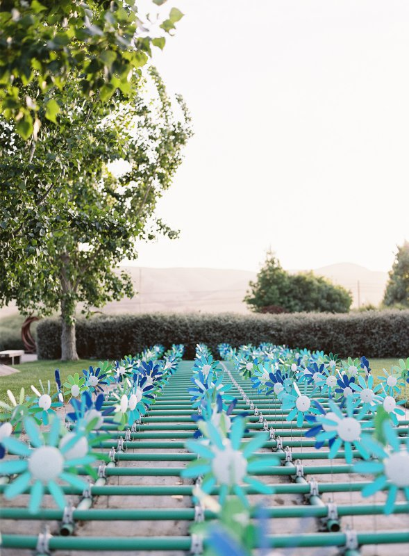 pinwheel art installation