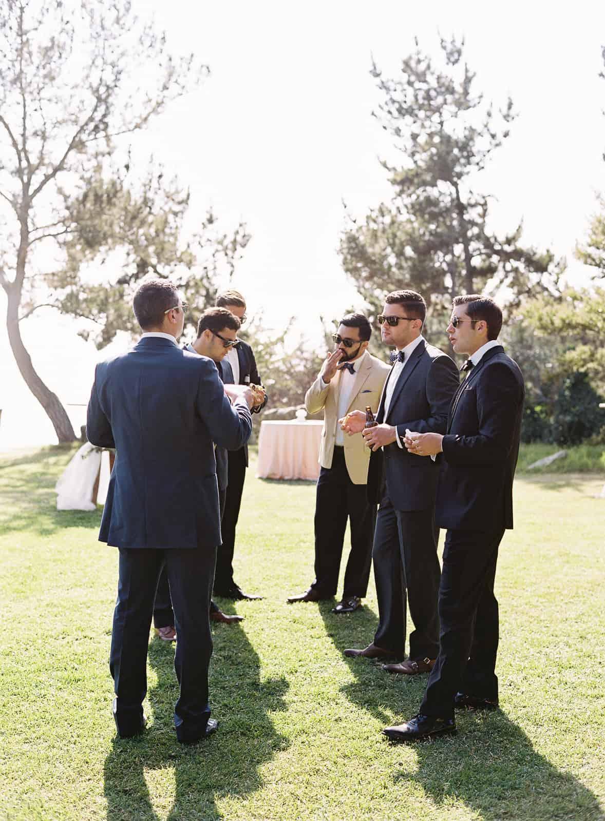 guys standign around talking