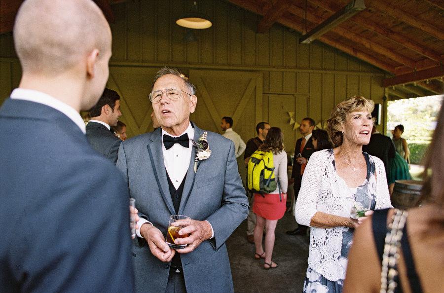 cocktail hour groom's parents