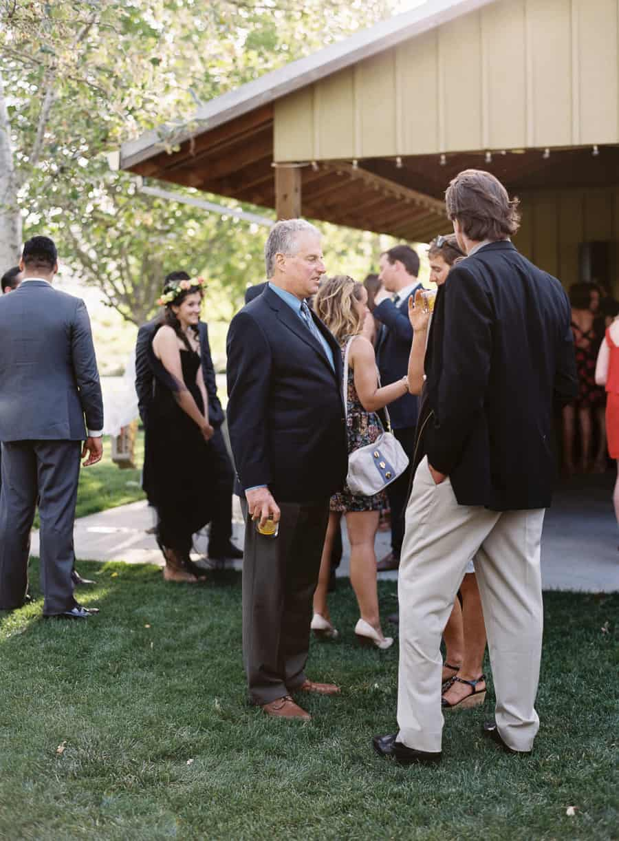 guests talking during cocktail hour