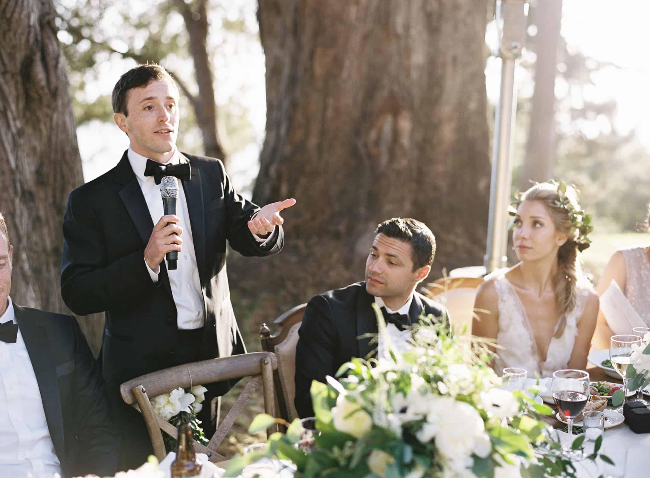 best man giving a speech