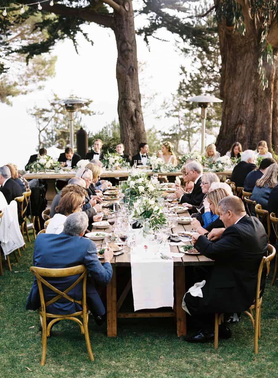 guests enjoying their dinner